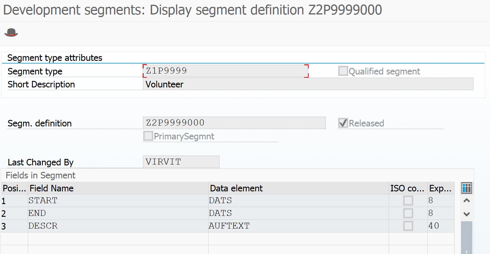 SAP IDOC segment definition