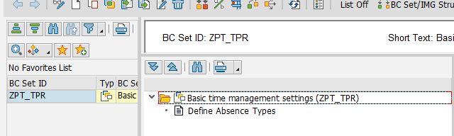 SAP BCSets